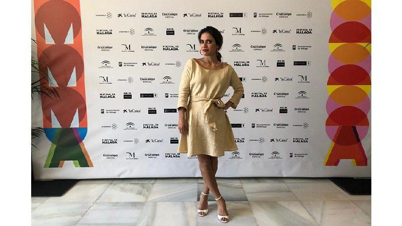 Carolina Ramírez recibe Biznaga de Plata a la Mejor Actriz de Reparto en el Festival de Málaga
