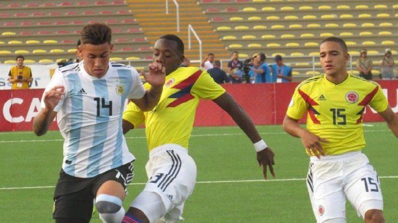 Colombia cayó 1-2 ante Argentina, en su debut en el Suramericano Sub-17