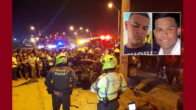 Dos muertos y dos heridos deja accidente de tránsito en la vía Circunvalar, a la altura de Siete de Abril