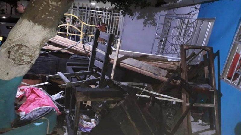 Emergencia por incendio de una vivienda en el barrio Los Olivos