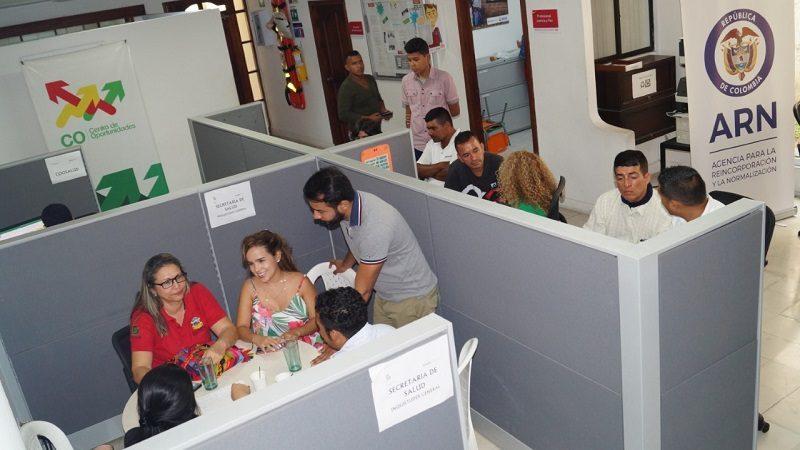Feria de servicios de salud y empleo para excombatientes en Barranquilla
