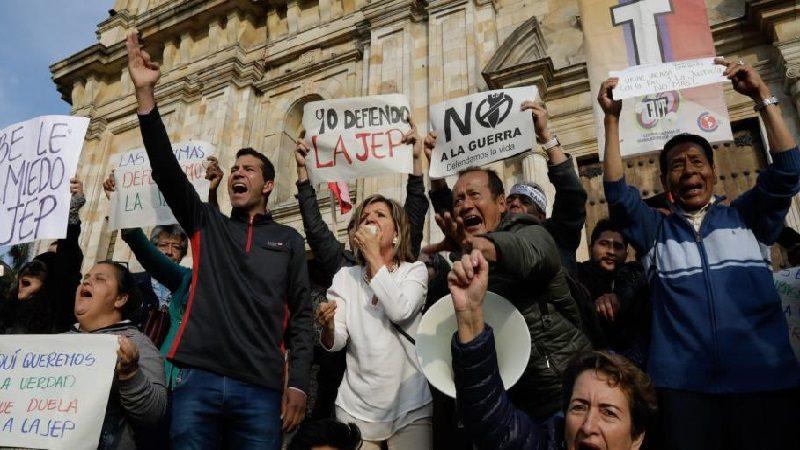 Hoy lunes 18 de marzo, marchas en todo el país en apoyo a la JEP