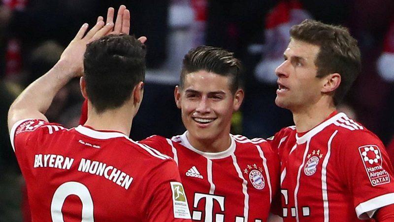 James Rodríguez marcó triplete en el 5-0 contra el Mainz