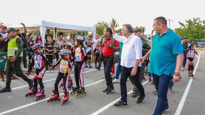 Sabanagrande recibió a 700 patinadores en II Festival Campeón de Campeones