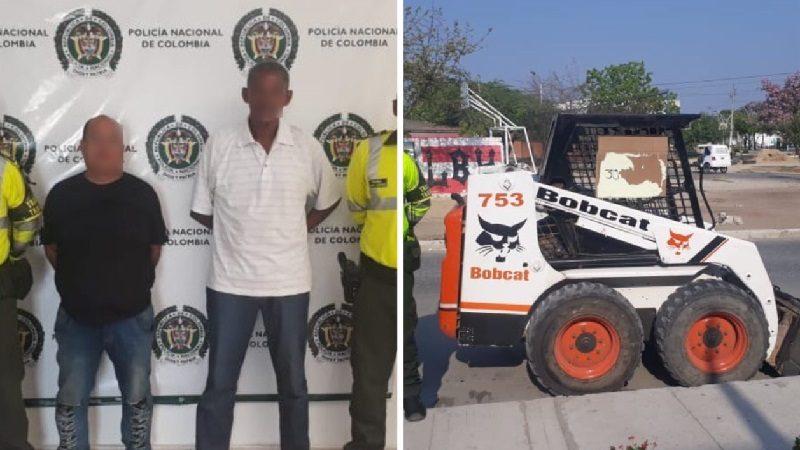Se robaron un minicargador Bobcat y los capturó la Policía en Ponedera