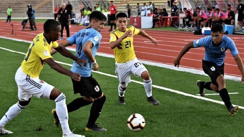 Segunda derrota de Colombia en el Suramericano sub 17, perdió 2-1 ante Uruguay
