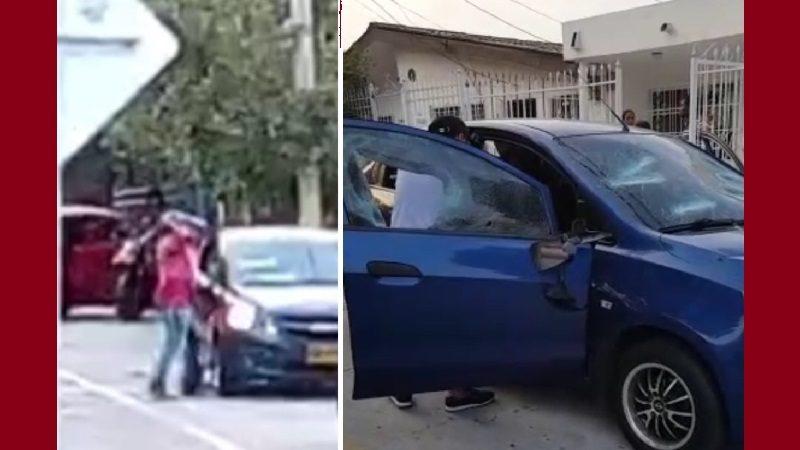 A batazos joven destrozó el carro de un pastor evangélico en el barrio Las Palmas