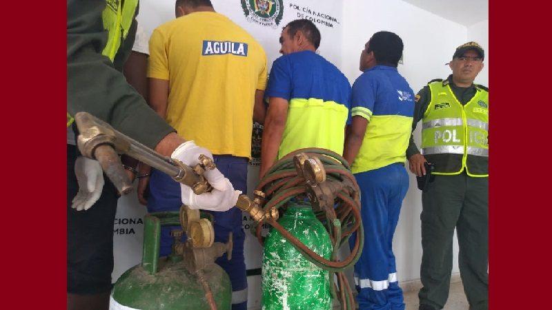 Capturan a 3 empleados y un extrabajador de Bavaria cuando se robaban la caja fuerte de un camión