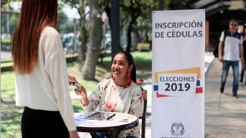 Del 8 al 14 de julio Registraduría abrirá puntos de inscripción de cédulas para las elecciones del 27 de octubre