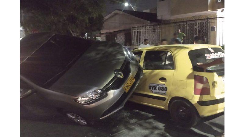 Increíble accidente de tránsito en el barrio Nueva Granada