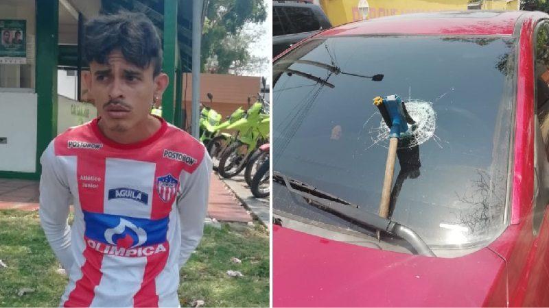 'Limpiavidrio' venezolano le partió el panorámico a un carro porque solo le dieron $100