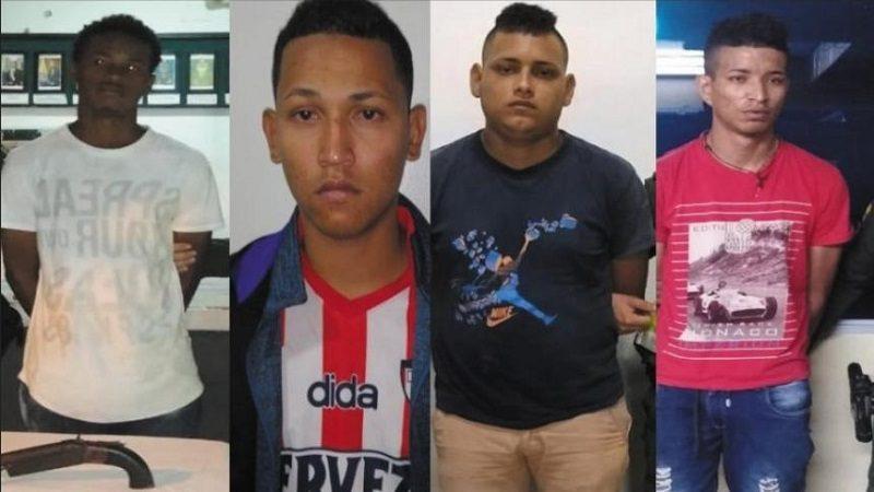 Policía captura a cuatro presuntos delincuentes en Barranquilla