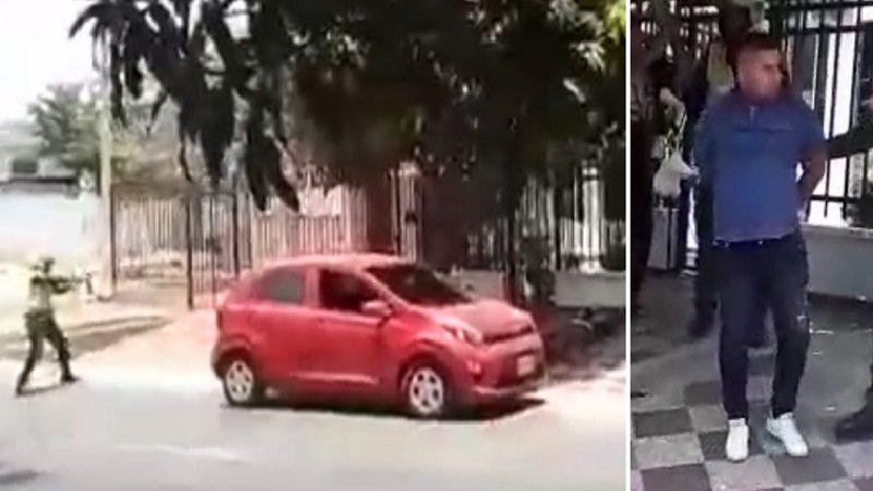 Como de película, policía captura a presunto atracador en el norte de Barranquilla