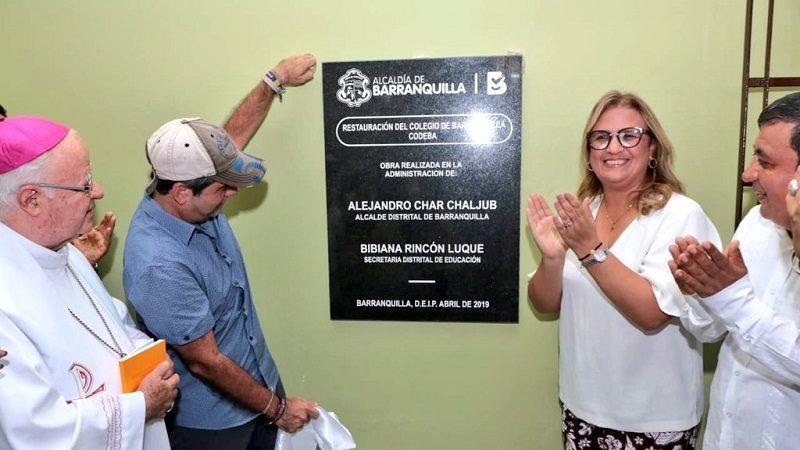 Entregan obras de remodelación en el Colegio Barranquilla