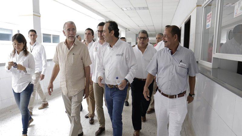 Gobernador Verano pide apoyo a Supersalud para recuperación de red hospitalaria