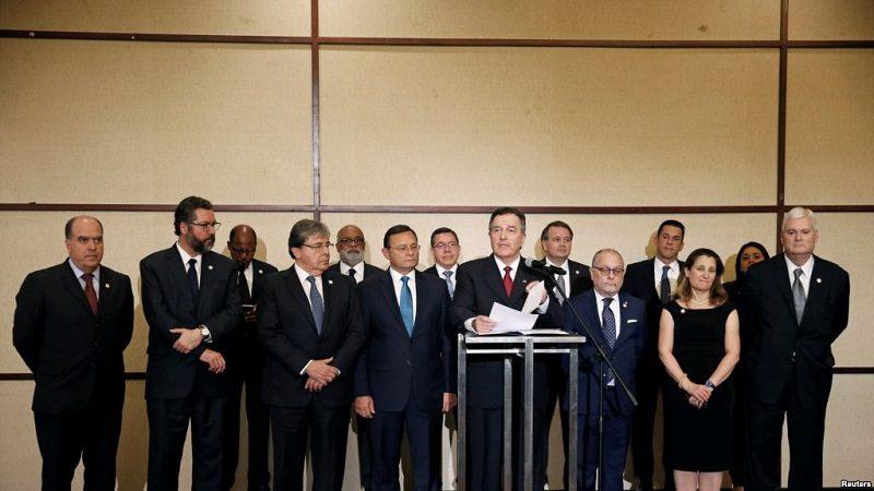 Grupo de Lima responsabiliza a Maduro de acciones contra Colombia