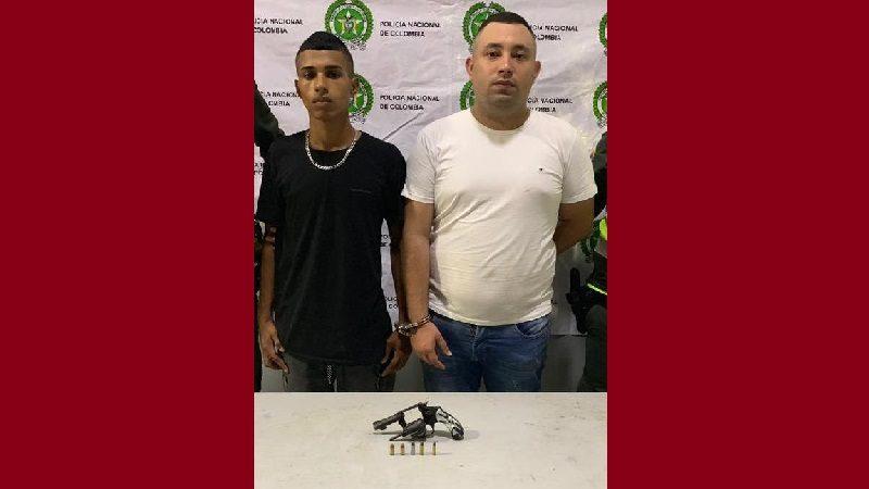 Iban a atracar a un taxista en Soledad y los capturó la Policía