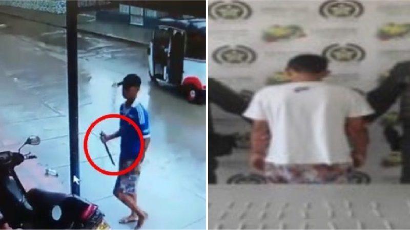 Joven que atraca con 'mata ganado' en Malambo tiene 15 años y lo han detenido varias veces