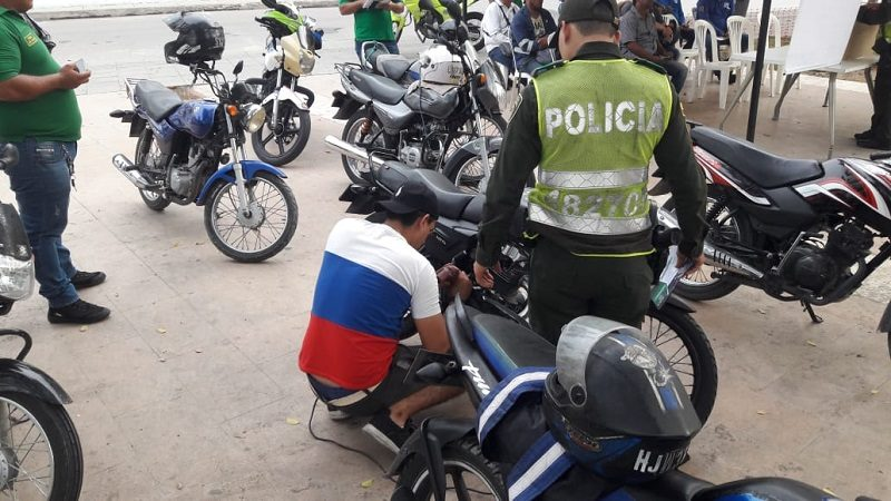 Policía adelanta operativos para combatir el robo de motos en Barranquilla
