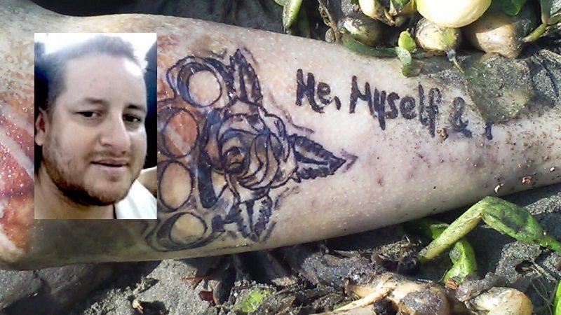 Por unos tatuajes reconocieron cuerpo de hombre que se lanzó al río, por los cobradiarios