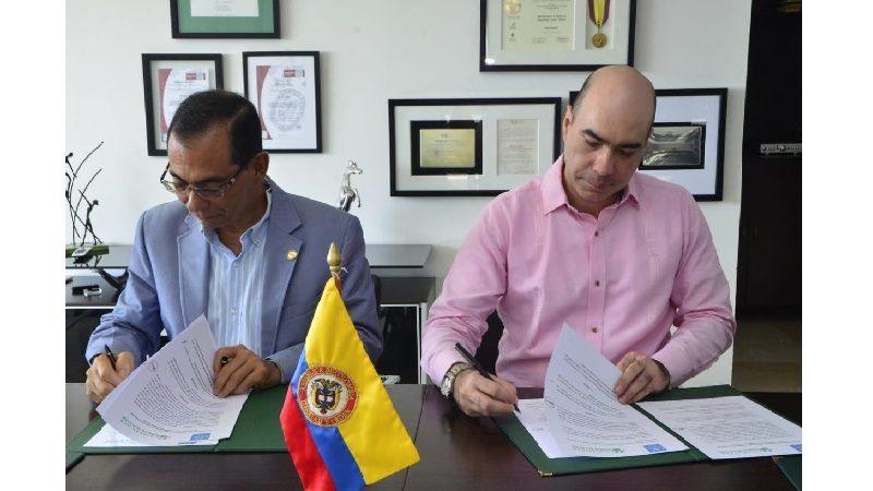 Unisimón y Universidad Santiago de Cali firman convenio educación e investigación