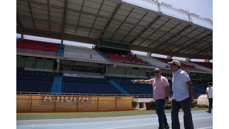 Alcaldía remodela zona de prensa en el estadio Metropolitano