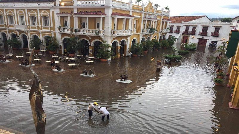 Reportan varias emergencias por fuerte aguacero en Cartagena