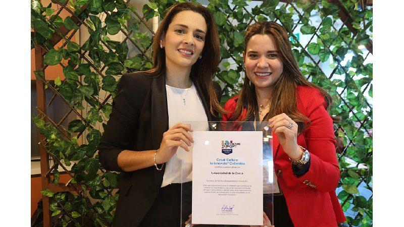 Universidad de la Costa, certificada por Great Culture to Innovate Colombia