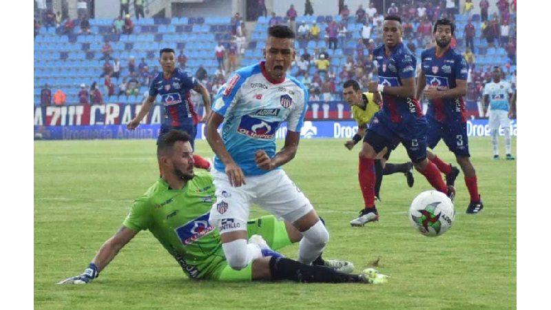 Partido Junior-Unión que habían suspendido por lluvias terminó 1-1