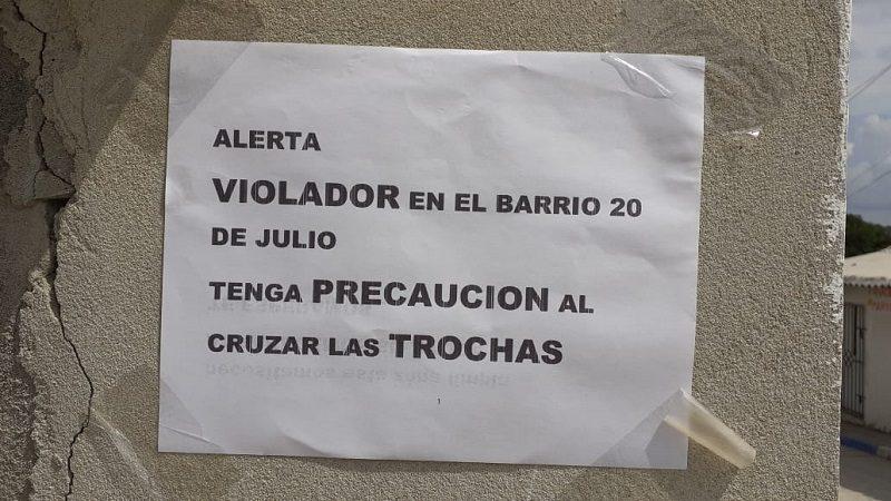 Cuidado: violador hace de las suyas en el barrio 20 de Julio en Barranquilla