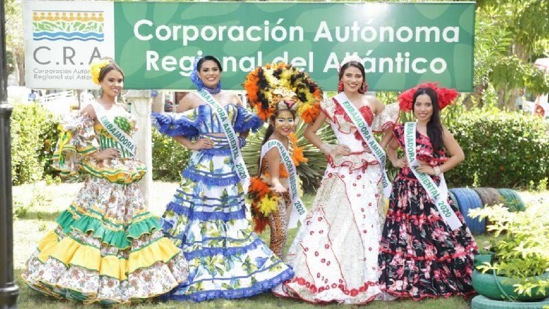 Cra nombra como Embajadoras Ambientales 2020 a reinas municipales del carnaval