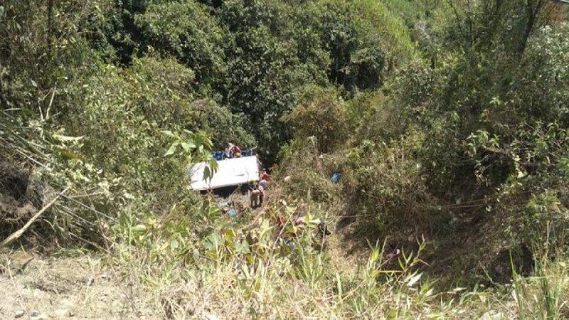 Cuatro muertos y 15 heridos en accidente ocurrido en Salamina, Caldas