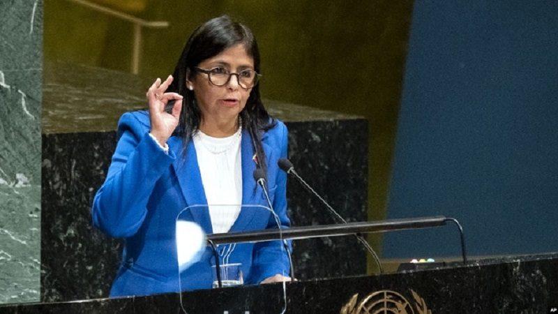 Tormenta política por presencia de vicepresidenta venezolana en España
