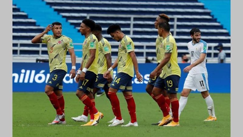 Colombia cayó 3-0 ante Uruguay: tarde para olvidar