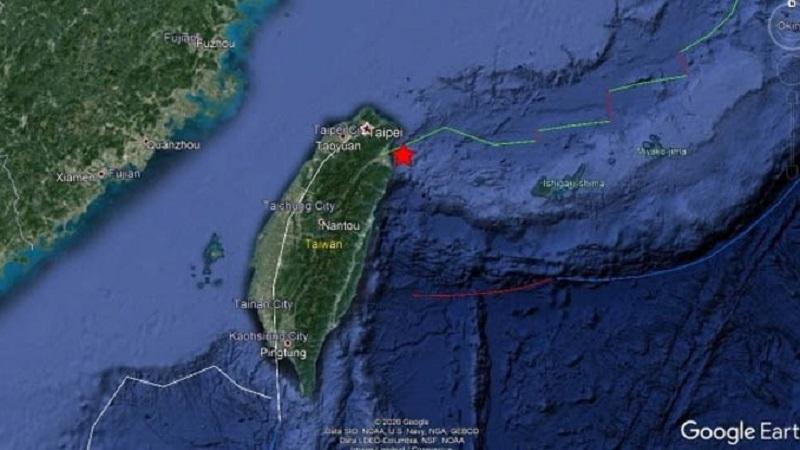 Reportan sismo de magnitud 6,2 frente a costa de Taiwán