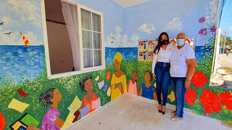 Ministerio de Cultura y Sena Atlántico reconstruyen Taller Escuela 'Miss Elva Jay' en San Andrés