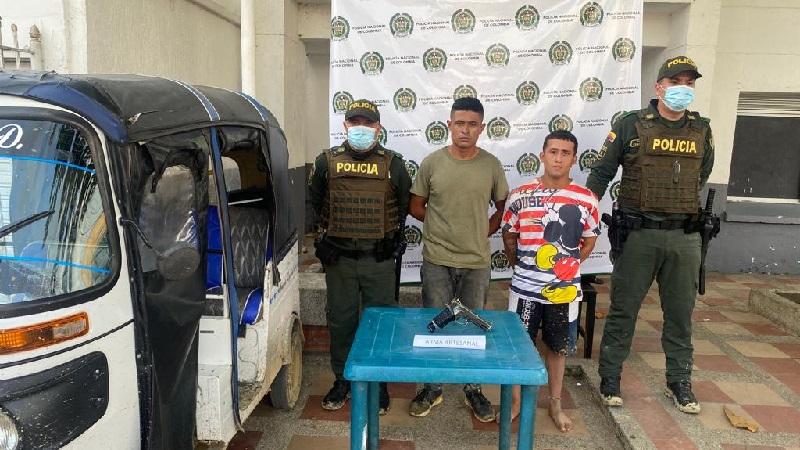 Se robaron un motocarro y los capturan cuando huían hacia el municipio de Malambo